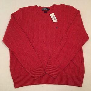 New polo Ralph Lauren Silk crewneck Logo Sweater